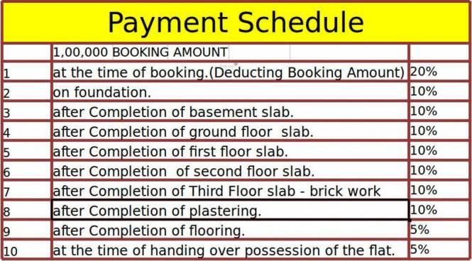 Purvi The Pristine Payment Plan