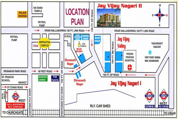Shree Parasnath Jay Vijay Nagari No 2 Location Plan