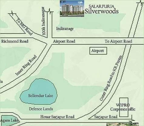 Salarpuria Sattva Silverwood Apartments Location Plan