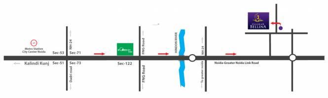 Gulshan Bellina Location Plan