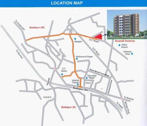 Yash Anandi Avenue Location Plan