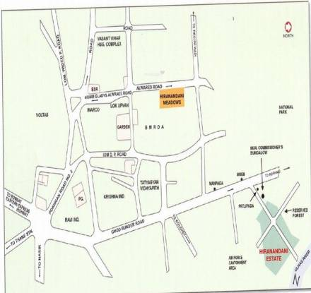 Hiranandani Meadows Location Plan