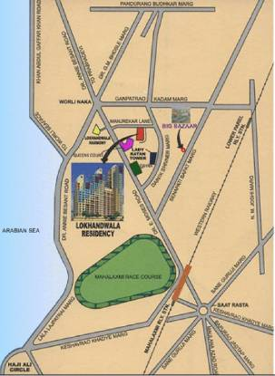 Lokhandwala Residency Location Plan