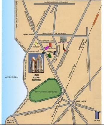 Lokhandwala Lady Ratan Tower Location Plan