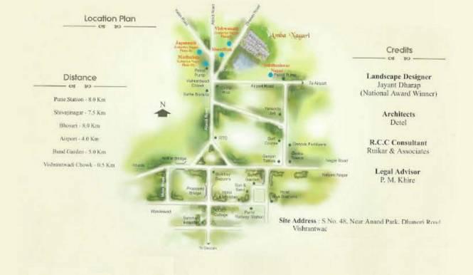 Amba Nagari Location Plan