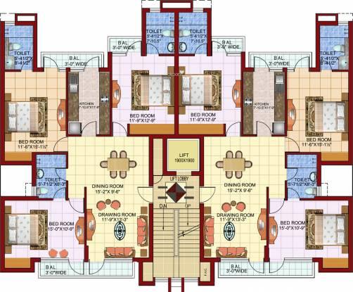 Parsvnath Castle Cluster Plan