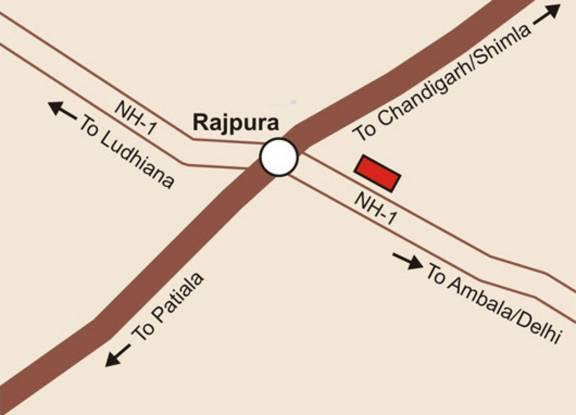 Parsvnath King Citi Villas Location Plan