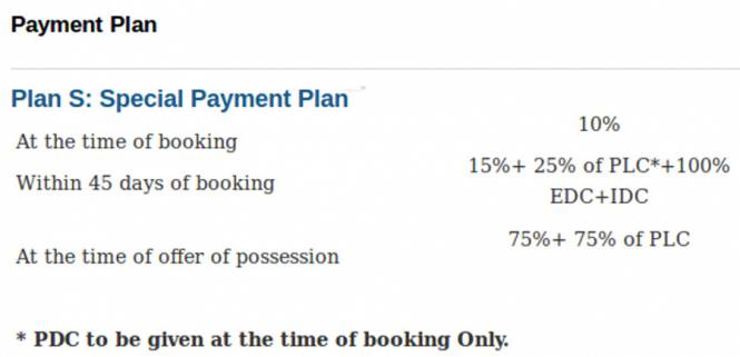 Parsvnath King Citi Plots Payment Plan
