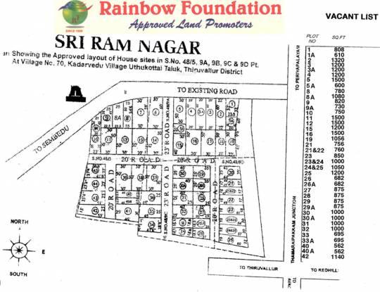 Rainbow Sri Ram Nagar Layout Plan