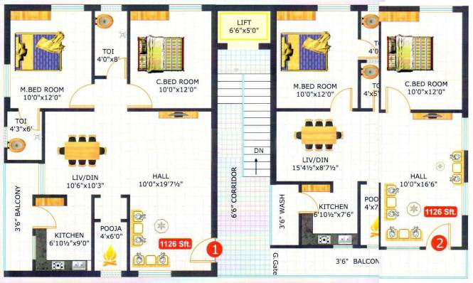 SpaceVision Ramya Heights Cluster Plan