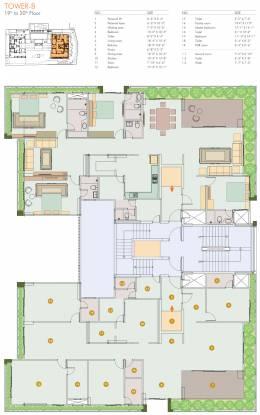 paarijat-eclat Tower B Cluster Plan from 19th to 20th Floor