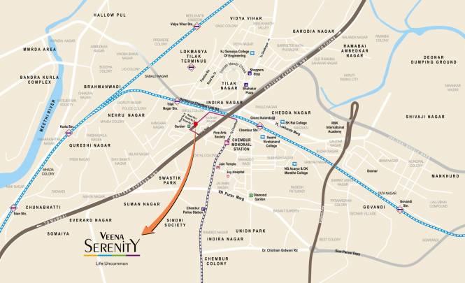 Veena Serenity Location Plan