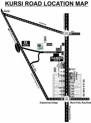 Gamba Green City Plots Location Plan