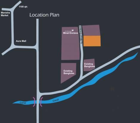 Metro Builders and Developers Gulmohar Location Plan