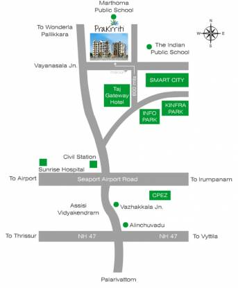 Green Vistas Prakrriti Location Plan