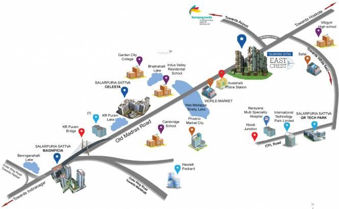 Salarpuria Sattva East Crest Location Plan