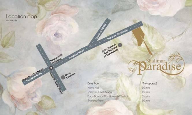 Shalimar Paradise Location Plan