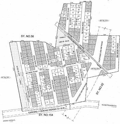 Srinivasa Spring Hills Site Plan
