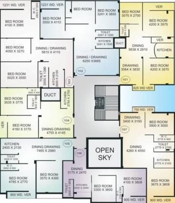 Krishti Plaza Cluster Plan