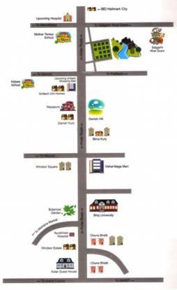 Ishaan Vista Plots Location Plan