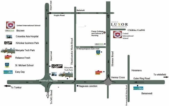 Shriram Luxor Location Plan