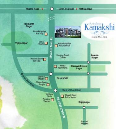 Soundarya Kamakshi Location Plan