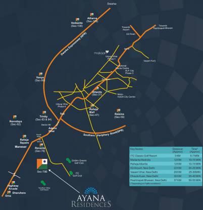 Raheja Ayana Residences Location Plan