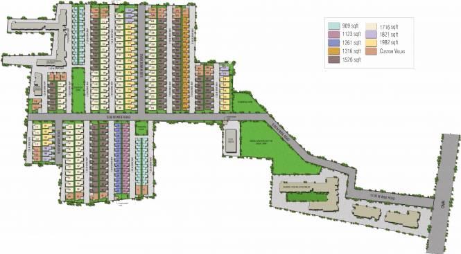 Alliance Humming Gardens Layout Plan