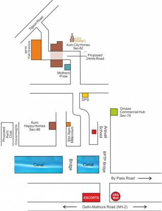 Auric City Homes Location Plan
