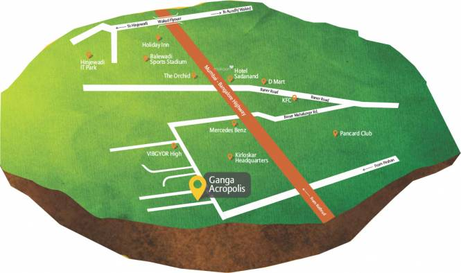 Goel Ganga Acropolis Location Plan
