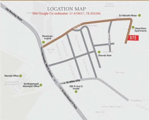 Shubham Blooms Location Plan