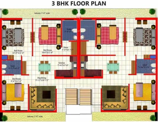 Dara Gold Homes Cluster Plan