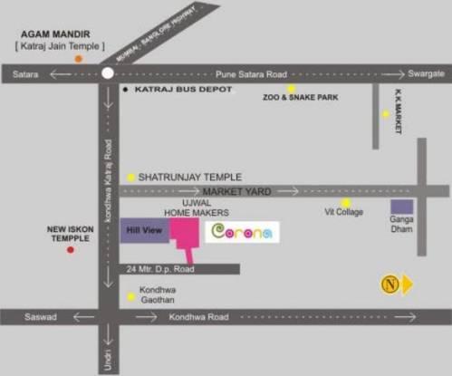 Ujwal Corona Location Plan