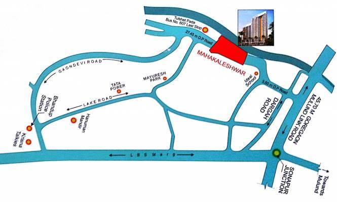 Kings Anand Dham Bldg 1 Location Plan