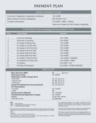 Pushpanjali Habitat Payment Plan