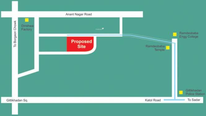 Gandhi Kaps Regency Location Plan