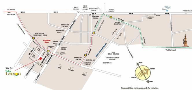 Tulip Lemon Location Plan
