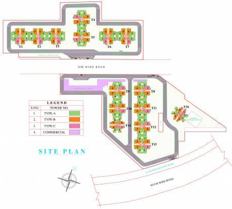 Pyramid Urban Homes Site Plan