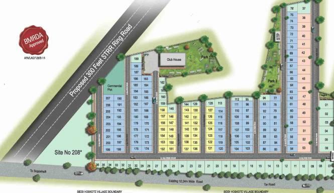 Orbis Bvs Avenues Layout Plan