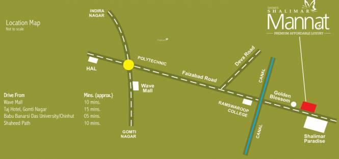 Shalimar Mannat Location Plan