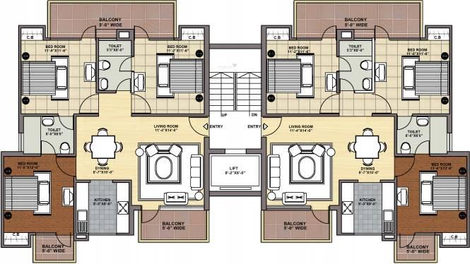 Maxheights My Floors Cluster Plan