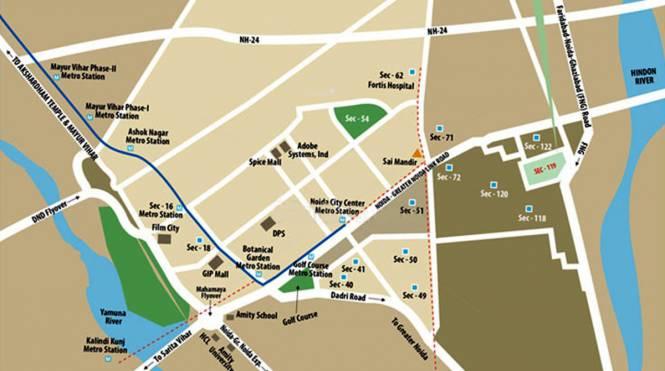 Eldeco Aamantran Location Plan