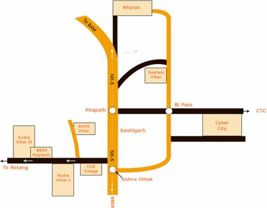 Citicon Rudra Vihar II Location Plan