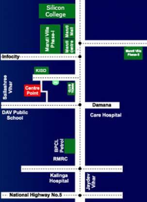 Maruti Center Point Location Plan