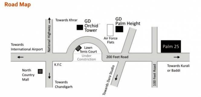 Galaxy Orchid Towers Location Plan