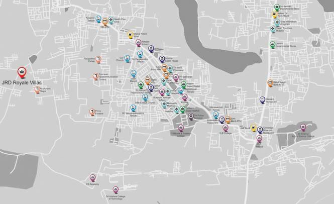 JRD Royale Villas Location Plan