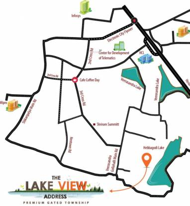 The Address The Lake View Address Plots Location Plan