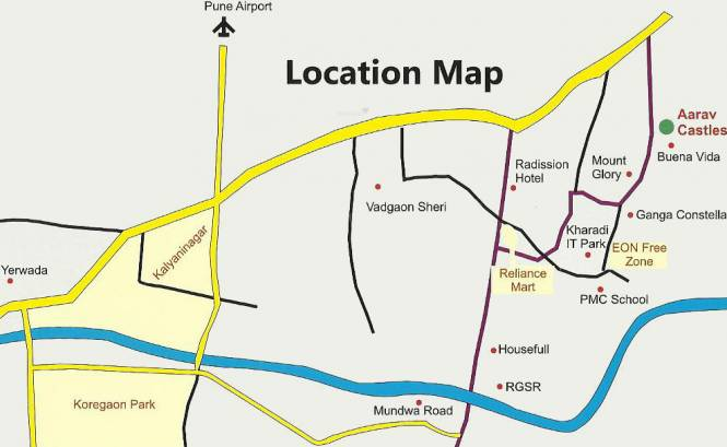 Aarav Castles Location Plan