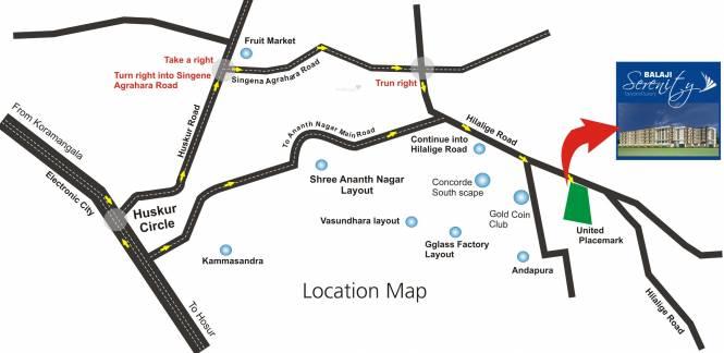 Balaji Serenity Location Plan