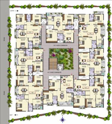 VR Lake View Cluster Plan